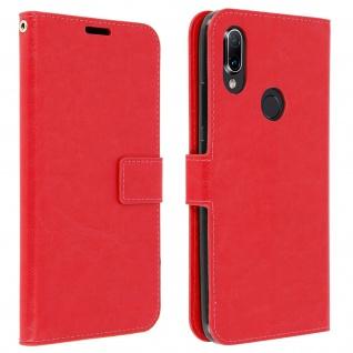 Flip Stand Cover Brieftasche & Standfunktion für Xiaomi Redmi 7 - Rot