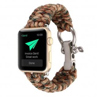 Apple Watch 38/40 mm Rope Style Armbanduhr, Retro Armbanduhr ? Braun/Grün