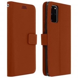 Samsung Galaxy S20 Plus Flip-Cover mit Kartenfächern & Standfunktion - Braun