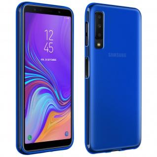 Silikonhülle für Samsung Galaxy A7 2018, flexibles Backcover - Blau