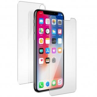 Schutzfolien Vorder- + Rückseite für iPhone X 360° Muvit - Transparent