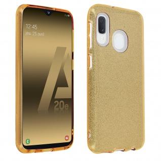 Schutzhülle, Glitter Case für Samsung Galaxy A20e, shiny & girly Hülle - Gold