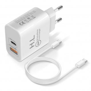 18W Power Delivery Q.C 3.0 Ladegerät + USB-C Kabel - Weiß