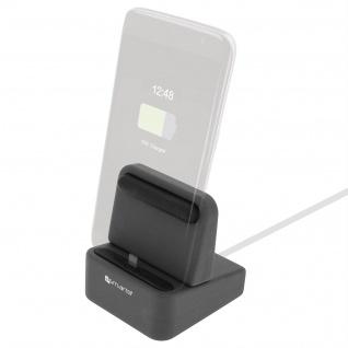 4Smarts Wiredock Dockingstation Schwarz - iPhone/iPad, USB Typ-C und Micro-USB