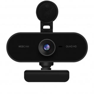 2K 1440p USB-Webcam mit Mikrofon und Drehstativ ? Schwarz