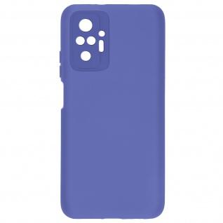 Halbsteife Silikon Handyhülle für Xiaomi Redmi Note 10 Pro, Soft Touch ? Violett