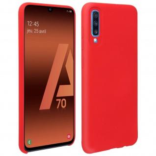 Halbsteife Silikon Handyhülle Samsung Galaxy A70, Soft Touch - Rot