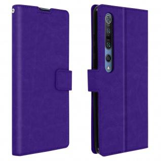Flip Stand Case Brieftasche & Standfunktion für Xiaomi Mi 10/Mi 10 Pro - Violett