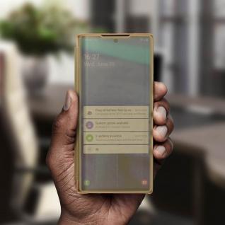 Samsung Galaxy Note 10 Flip Cover mit Spiegeleffekt & Standfunktion - Gold - Vorschau 4