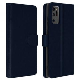 Flip Cover Geldbörse, Klappetui Kunstleder für Galaxy Note 20 Ultra â€? Dunkelblau