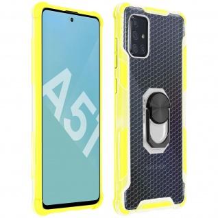 Hybrid Handyhülle mit Ring Halterung für Galaxy A51 - Gelb