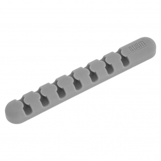 Kabelhalter, klebender Halter für Kabel, Maus, Tastatur, Büro - Grau