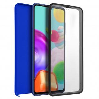 Schutzhülle für Samsung Galaxy A41, Vorder- + Rückseite ? Blau