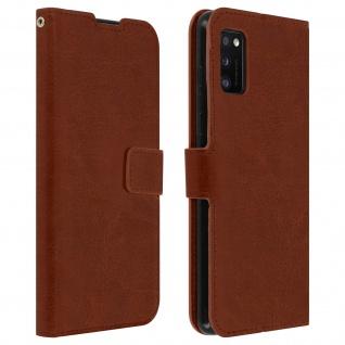 Flip Stand Case Brieftasche & Standfunktion für Samsung Galaxy A41 - Braun