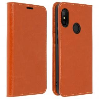 Business Leder Cover, Schutzhülle mit Geldbörse für Xiaomi Mi A2 Lite - Kupfer