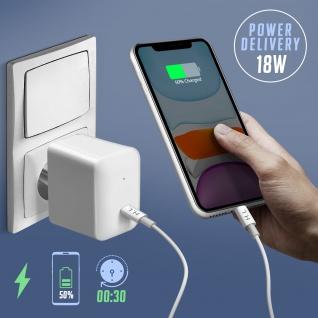 Lightning / USB-C Power Delivery 18W Lade- und Synchronisationskabel ? Weiß - Vorschau 3