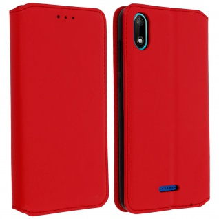 Kunstleder Cover Classic Edition Wiko Y60 - Rot