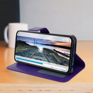 Flip Stand Cover Brieftasche & Standfunktion für Huawei P30 - Violett - Vorschau 4