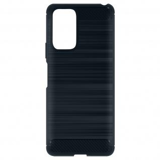 Xiaomi Redmi Note 10 Pro Hülle mit Aluminium und Carbon Design ? Dunkelblau