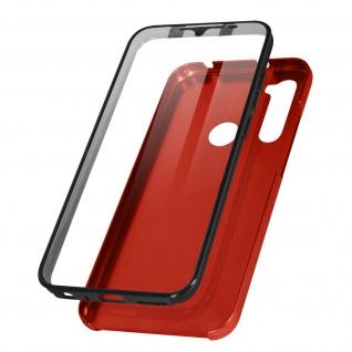 Schutzhülle für Xiaomi Redmi Note 8 / 8 2021, Vorder- + Rückseite ? Rot
