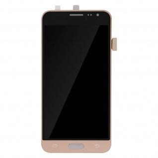 Ersatzdisplay mit Samsung Galaxy J3 kompatibel, Scheibe vormontiert - Gold