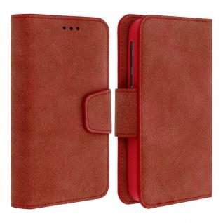 """Universal Klapphülle, Etui mit Geldbörse für 5.5"""" Smartphones, Größe XL - Rot"""