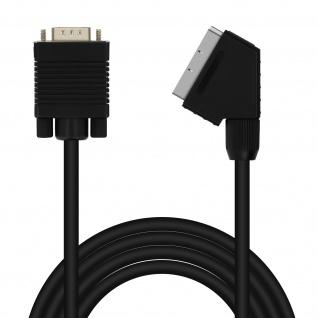 Videokabel VGA-Stecker / Peritel-Stecker 1, 8 m, LinQ - Schwarz