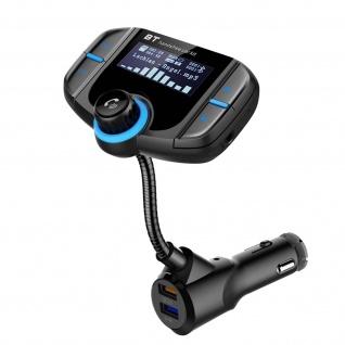 Universal Bluetooth KFZ-Handyhalterung - MP3/ FM Transmitter - Schwarz