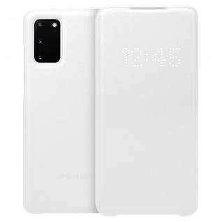 Original Samsung LED-View Cover + Kartenfach Samsung Galaxy S20 - Weiß - Vorschau 2