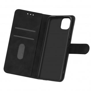 Klappetui mit Geldbörse, Kunstlederhülle für Xiaomi Mi 11 Lite ? Schwarz