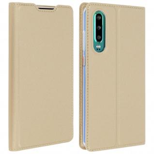 Klappetui mit Kartenfach & Standfunktion Huawei P30 Gold