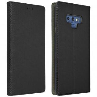 Samsung Galaxy Note 9 Flip Cover mit Kartenschlitz & Standfunktion - Schwarz