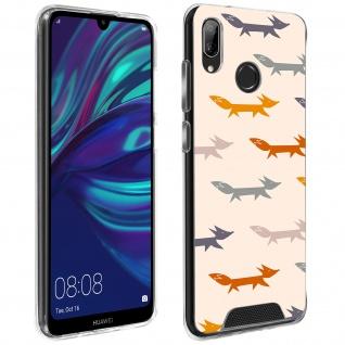 Handyhülle für Huawei Y7 2019, Made in France ? Füchse Design