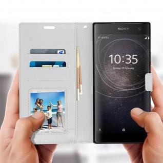 Flip Stand Cover Brieftasche & Standfunktion Sony Xperia XA2 Plus - Weiß - Vorschau 4