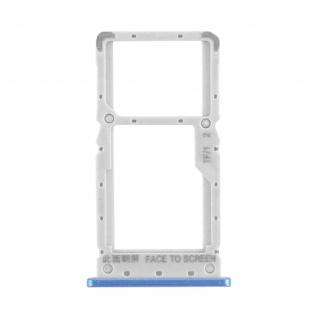 1x SIM + 1x Micro-SD Kartenhalter Ersatzteil für Xiaomi Redmi Note 8 Pro - Blau