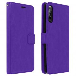 Flip Stand Case Brieftasche & Standfunktion für Sony Xperia L4 - Violett
