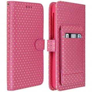 Universal Bookcover Smartphones Größe 3XL Standfunktion + Spiegel â€? Fuchsienrot