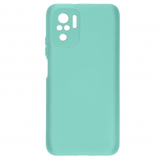 Halbsteife Silikonhülle für Xiaomi Redmi Note 10 / 10s, Soft Touch ? Türkisblau
