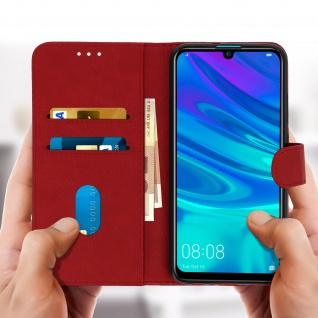 Flip Cover, Kunstlederetui für Huawei P Smart 2019, Honor 10 Lite - Rot