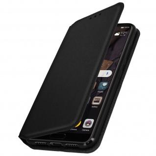 Flip Cover mit Geldbörse Classic Edition mit Standfunktion Huawei P20 - Schwarz