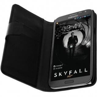 Flip-Schutzhülle Brieftasche Samsung Galaxy Note 2 N7100 Rundumschutz - Schwarz