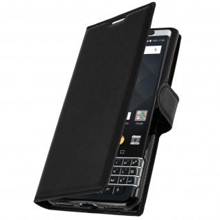 BlackBerry Keyone Flip-Schutzhülle mit Standfunktion - Schwarz