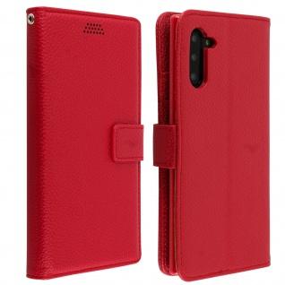 Samsung Galaxy Note 10 Flip-Cover mit Kartenfächern & Standfunktion â€? Rot