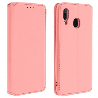 Kunstleder Cover Classic Edition Samsung Galaxy A30 - Rosegold