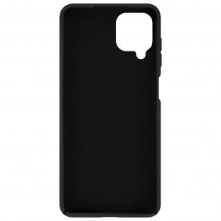 Halbsteife Silikon Handyhülle für Samsung Galaxy A12, Soft Touch ? Schwarz