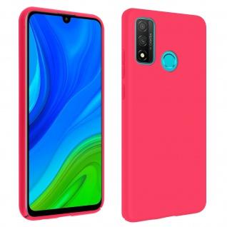 Halbsteife Silikon Handyhülle Huawei P smart 2020, Soft Touch - Fuchsienrot