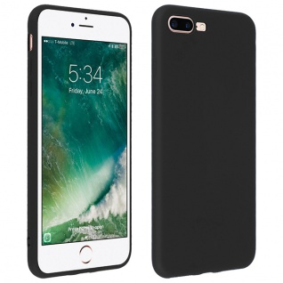 Forcell Apple iPhone 7 Plus, 8 Plus Soft Touch Silikonhülle, soft case - Schwarz