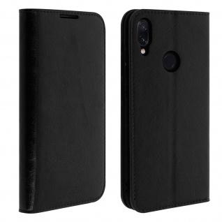 Business Leder Cover, Schutzhülle mit Geldbörse Xiaomi Redmi Note 7 - Schwarz