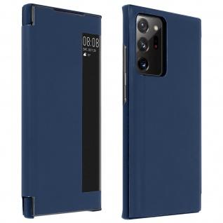 Window View Klapphülle, Etui mit Sichtfenster für Galaxy Note 20 Ultra ? Blau