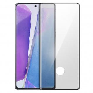 Premium Glas-Schutzfolie für Samsung Galaxy Note 20 - Rand Schwarz